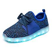 Chico Zapatillas de Atletismo Confort Zapatos con luz PU microfibra sintético Otoño Invierno Deportivo Casual Paseo Con Cordón Tacón Plano