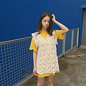 レディース スポーツ Tシャツ,セクシー ラウンドネック 水玉 コットン 半袖