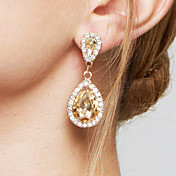 Mujer Pendientes colgantes Pendiente Moda Elegant Nupcial Adorable joyería de disfraz Zirconio Diamante Sintético Legierung Gota Joyas