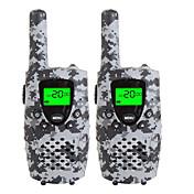 Walkie talkies duraderos del camo para los cabritos usb micro de 22 canales que cargan 3 millas (hasta 5miles) los mini walkie talkies