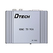 HDMI 1.4 Convertidor, HDMI 1.4 to VGA 2RCA Convertidor Hembra - Hembra