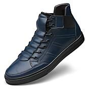 Hombre Zapatillas de deporte Botas de nieve Botas hasta el Tobillo Zapatos De Buceo Confort Otoño Invierno Cuero real Cuero de Napa Cuero
