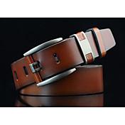 Hombre Vintage Casual Moda Aleación Cinturón de Cintura,Sólido