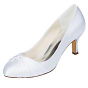 Feminino Sapatos De Casamento Plataforma Básica Cetim com Stretch Primavera Outono Casamento Festas & Noite Laço Salto AgulhaAzul Rosa