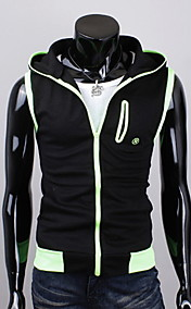 REVERIE UOMO Mannes Black Fashion Mantel Strick Hoodie Jacket