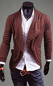 REVERIE UOMO Mannes Fshion Slim Fit Oblique Breast Coffee Cardigan