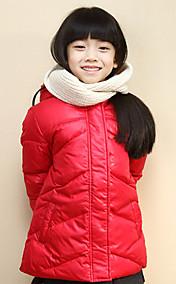 Chunyazi Fashion Solid Color Lang Hoodie Padded Coat (Red)