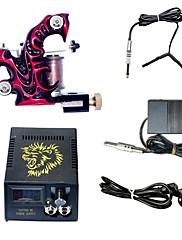 1ハンドメイドタトゥーマシンと液晶電源コンボ