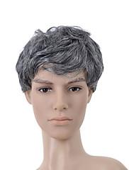 nadolijevanja kratka siva kovrčava kosa vlasulja