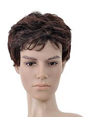 nadolijevanja kratka tamno smeđa kovrčava kosa vlasulja