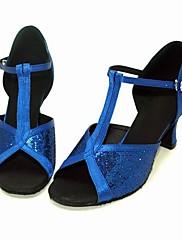 satén / třpytky šumivé horní ženy latin dance boty sál boty více barev