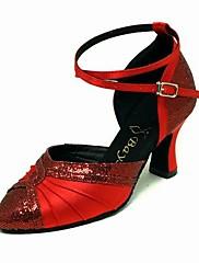 satén / třpytky šumivé horní vysoký podpatek taneční boty taneční sál moderní boty pro barvy ženy více