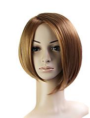 capless bob style 100% japonské Kanekalon vlákno světle hnědé rovné vlasy paruka