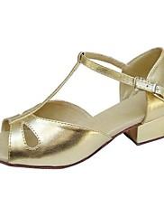 Dětské - Taneční boty - Latina / Taneční sál - Koženka Zlatá