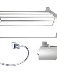 hliník 4-dílná toaletní příslušenství set (1041-les-6600 6601 6608 6609)