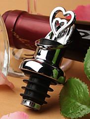 double srdce provedení láhev vína výčepní a zátka set