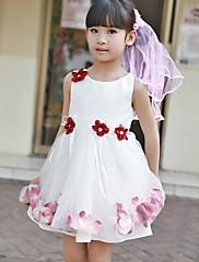 Bateau-line satén květin šaty s květinou (y)