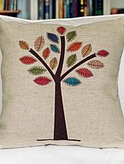 u boji stablo pamuk dekorativni jastuk cover