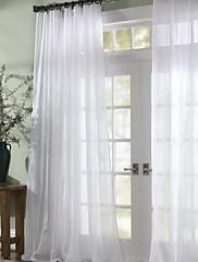 Dva panely Window Léčba Moderní , Jednolitý Ložnice Polyester Materiál Sheer Záclony Shades Home dekorace For Okno