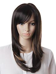 capless kvalitní syntetický hnědé rovné vlasy paruka