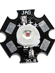 epistar 620-630nm 3W 30-40lm 700mah Crvena LED žarulja s aluminijske ploče (2.4-2.6V)