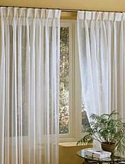 Dva panely Window Léčba Moderní , Jednolitý Směs lnu a bavlny Materiál Sheer Záclony Shades Home dekorace For Okno