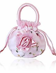 花と豪華なシルクイブニングバッグ/トップハンドルバッグ(その他の色)