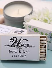decoración de la boda cajas de fósforos personalizados - (juego de 12)