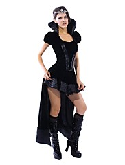 Cosplay Costumes Party Costume Princess Fairytale Festival/Holiday Halloween Costumes Black Solid Dress Shawl Halloween Carnival Female