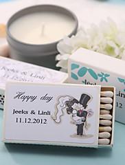 Wedding Décor Personalized Matchboxes - Bride & Groom (Set of 12)