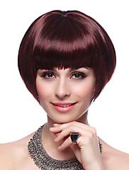 capless kvalitní syntetický krátký bob vínová vlasy, paruky