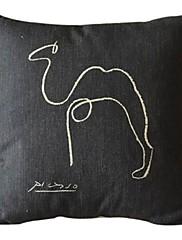 線画コットン/リネン装飾的な枕カバー