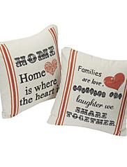 set od dvije kuće pamuka / lana dekorativni jastuk naslovnici