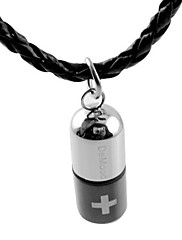 Módní pánské láhev titan náhrdelník
