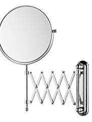 Okrugli 8-inčni izvući montiranje na zid kozmetičkim ogledalom krom završiti