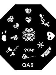 4ks nehtů elegantní krajka razítko ražení desky disk šablony