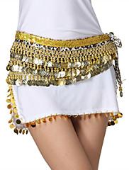 výkon dancewear samet leopard tisknout s mincemi pásy břišního tance pro ženy