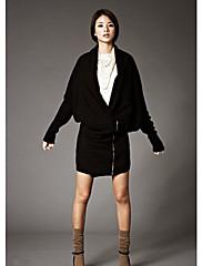dámské zábal přední pletené svetr se zipem
