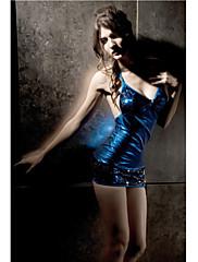 女性のファッションブルースパンコールミニドレス(バスト:86-102センチメートルウエスト:58-79C)
