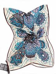 qthy klasické květinovým potiskem dlouhá šála (modrá)