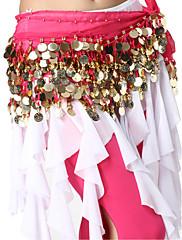 výkon dancewear šifón s 128 mincí pásem břišního tance pro ženy
