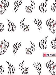 5ks vody transferový tisk nehtů samolepky no.20 multi-pattern