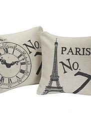 set od 2 Paris br.7 pamuka / lana dekorativni jastuk naslovnici