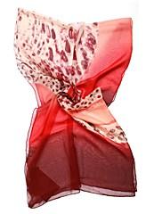 qthy asymetrie leopard Georgette šátek