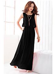 bohemian solid barva dvoudílný jako šifon šaty (black)