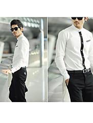 Stojan pánské business jednobarevná košile s dlouhým rukávem