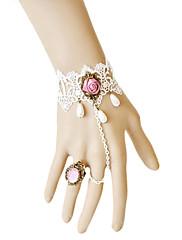 ručne ružičaste ruže bijele čipke aristo Lolita narukvicu