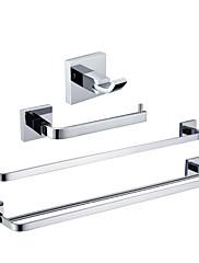 YALI.M®,浴室用品セット クロム ウォールマウント 真鍮 モダン