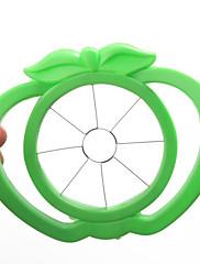 Apple ve tvaru plastové snadné ovoce kráječ fréza nástroj (náhodné barvy)