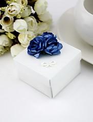 Čtvercové Favor Krabice s květinami - sada 12 (více barev)